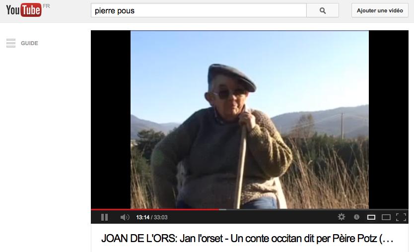 Pierre Pous récitant Jean de l'ours (ill. 7)