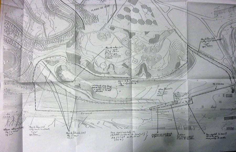 </strong>Photo 4&nbsp;: premier plan de plantations du vallon Ecologique (service du parc Georges Valbon, DNPB, CG93)<strong>